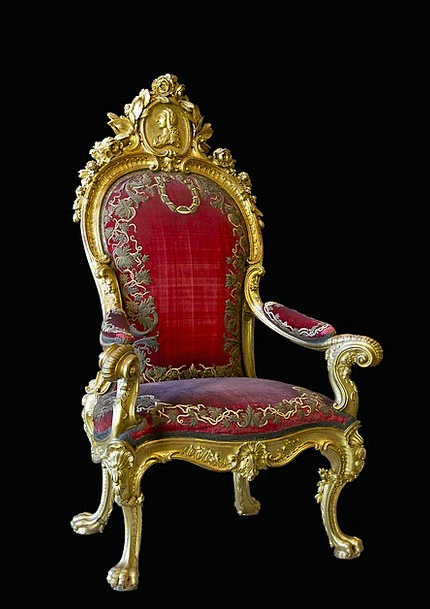 Throne Seat Monuments Chairperson Places Charles I
