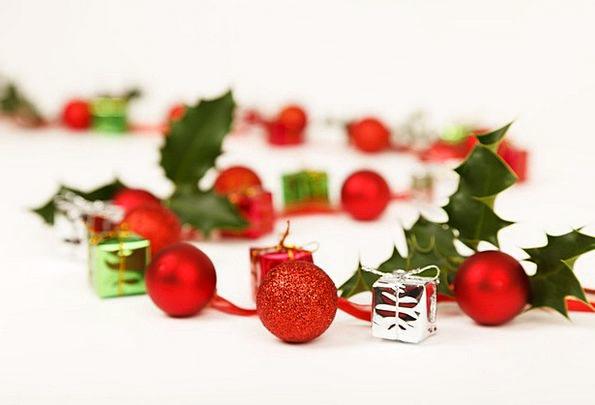 Ball Sphere Trinket Holly Bauble Ornament Celebrat