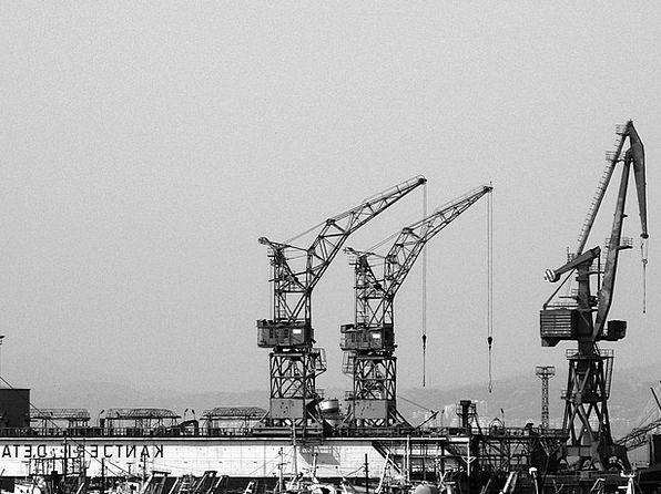 Cranes Hoists Buildings Architecture Construction