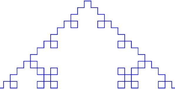 Pyramid Geometric Regular Fractal Free Vector Grap