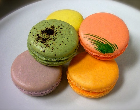 French Drink Food Dessert Pudding Macaroons Food N