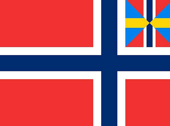 Norway Standard National Nationwide Flag Union Mer