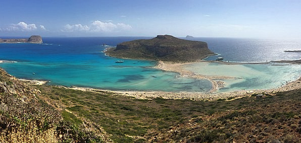 Crete Vacation Inlet Travel Sea Marine Lagoon Blue