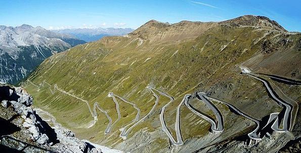 Stelvio Yoke Traffic Transportation Mountain Pass