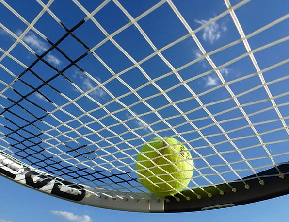 Tennis Tennis Racket Tennis Ball Blue Sport Divers