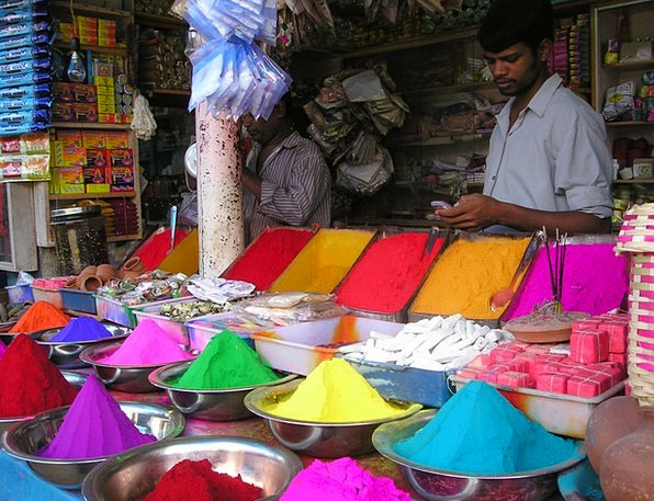 India Marketplace Color Hue Market Colorful Intere