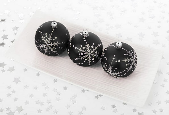 Ball Sphere Trinket Christmas Bauble Season Decora