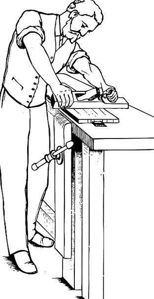 Man Gentleman Working Employed Carpenter Free Vect