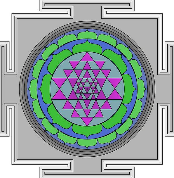 Mandala Ring Round Rotund Circle Square Four-sided