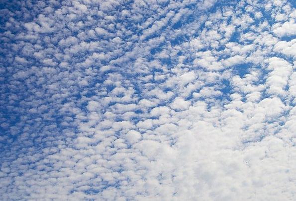 Fluffy Fleecy Blue Azure Sky White Snowy Summer St