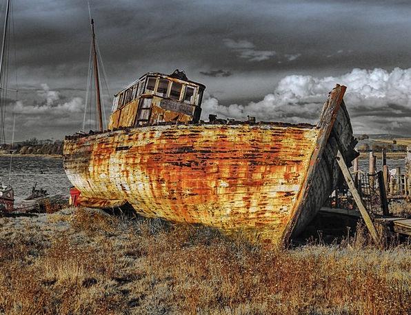 Sailing Ship Ship Landscapes Crash Nature Wreckage