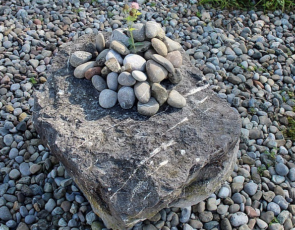 Stones Gravels Orphan Pebbles Foundling Stacked Lo
