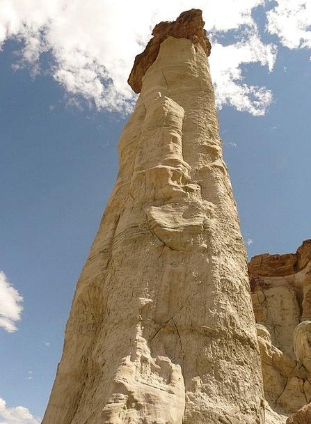 White Hoodoos Arizona Wahweap Creek Usa Rock Colum