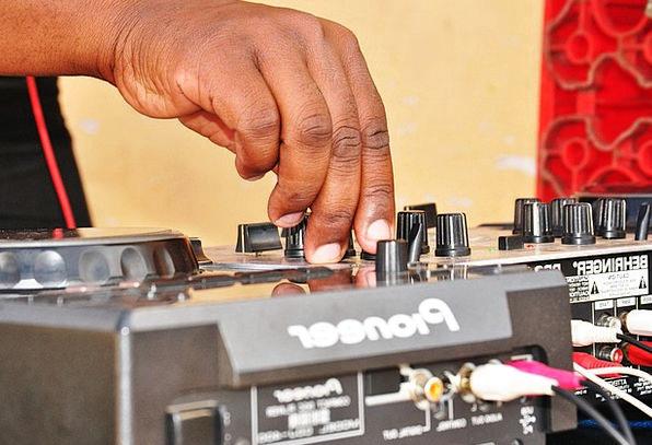 Mixing Desk DJ Mix Combination Disc Jockey Turntab