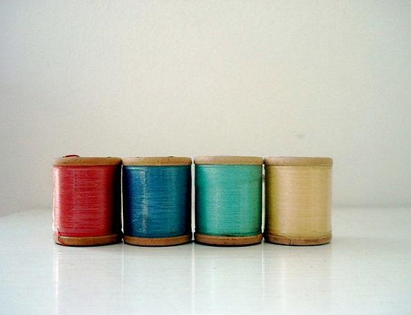 Thread Yarn Reels Sewing Stitching Spools Vintage