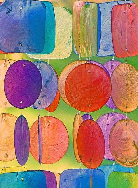Windspiel Interesting Gartendeko Colorful