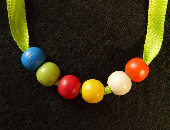 Pearl Necklace Drops Wood Beads Beads Wood Timber