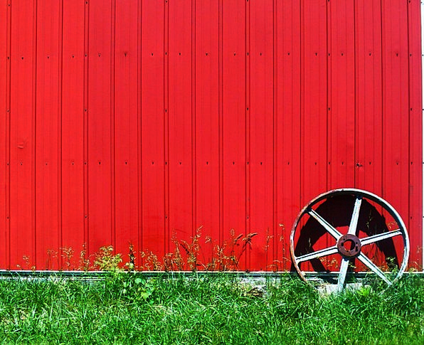 Wheel Helm Partition Red Bloodshot Wall Hut Shed F