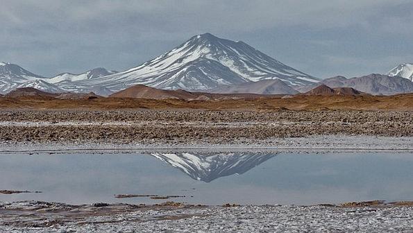 Aracar Landscapes Crag Nature Stratovolcano Mounta