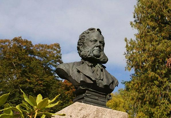 Statue Figurine Ibsen Henrik Poet Bard Playwright
