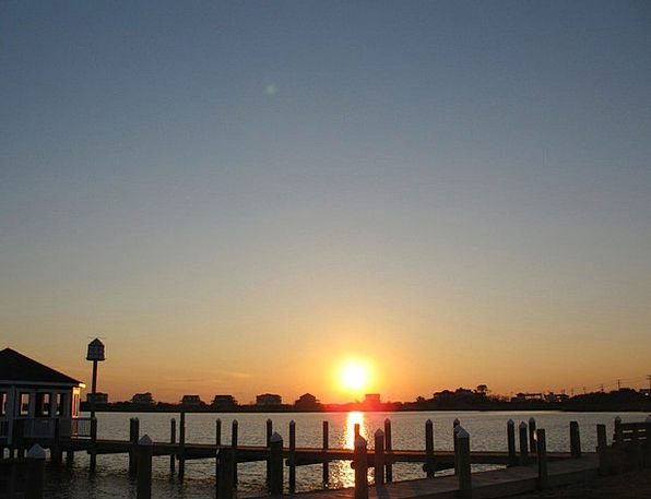 Waterfront Waterside Vacation Sundown Travel Sky B