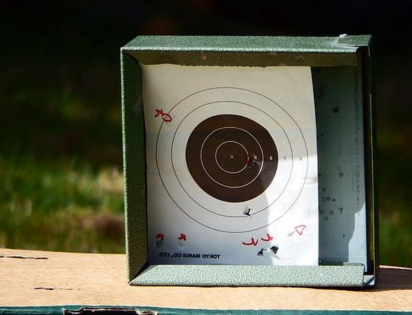 Poor Deprived Goal Firing Gunfire Aim Target Board