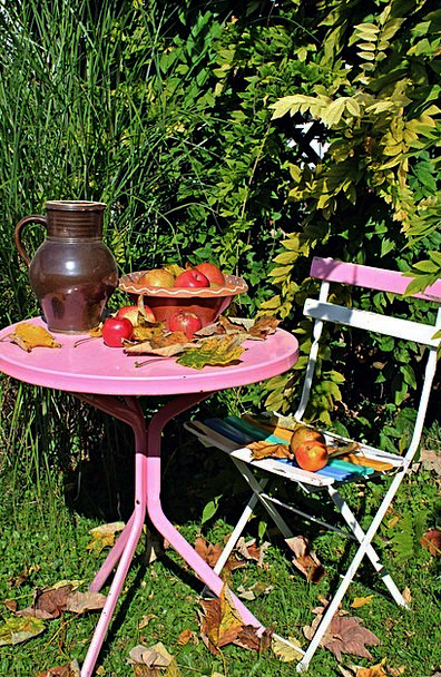 Garden Table Landscapes Fall Nature Garden Plot Au