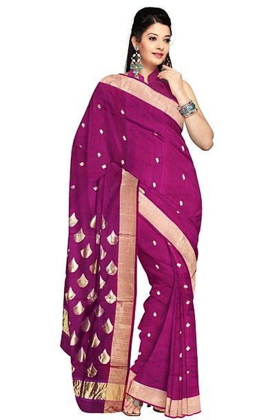 Saree Fashion Style Beauty Silk Fashion Lilac Dres