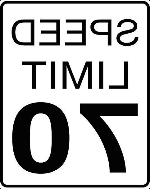 Sign Symbol Maximum speed 70 Speed Limit Free Vect
