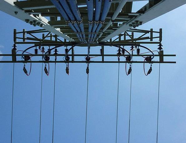 Electric Electronic High Voltage E Werk Strommast