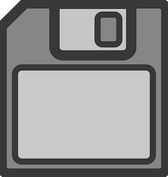 Floppy Disk But File Folder Save Backup Data Infor