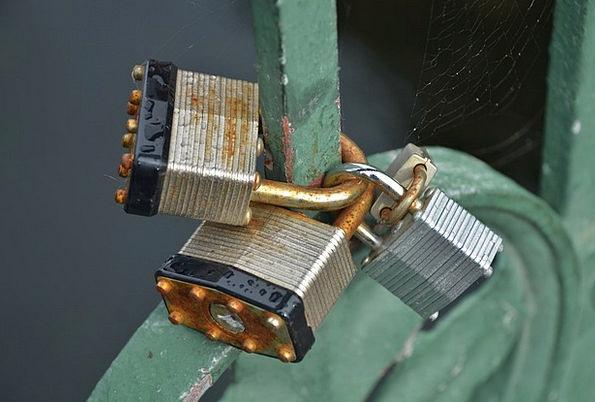Padlocks Locks Near Key Important Close Metallic A