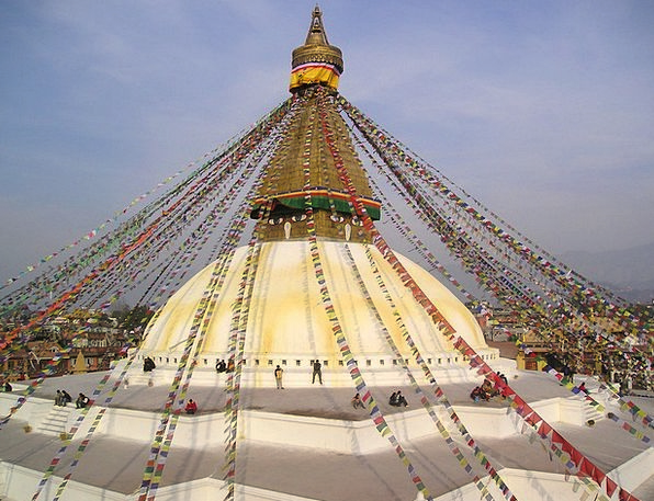 Nepal Stupa Buddhism Holy Consecrated Prayer Flags