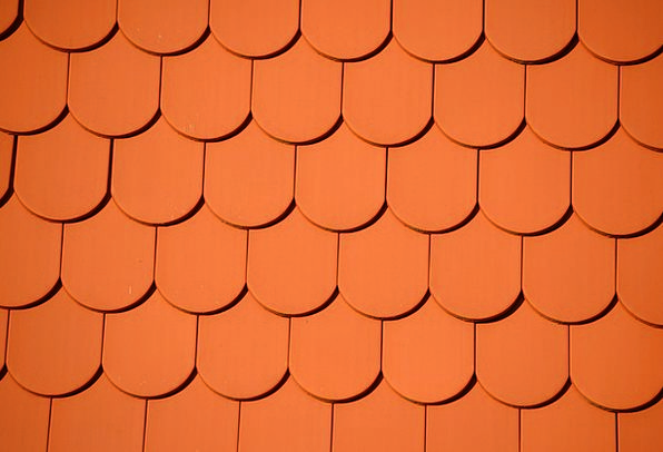 Roofing Tiling Inlay Red Bloodshot Tile Wall Parti