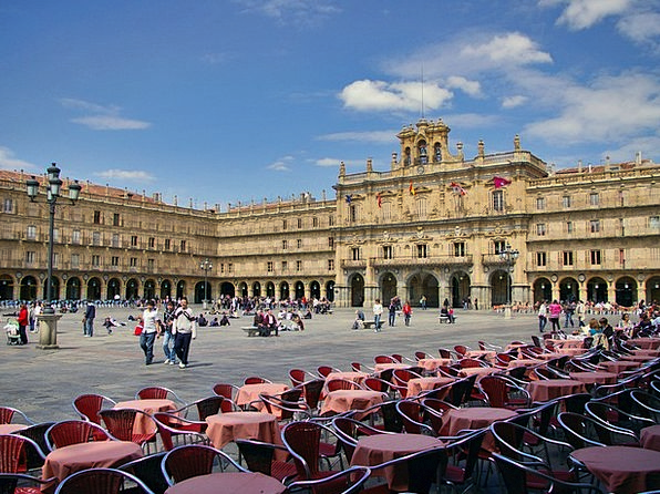 Salamanca Chairs Seats Plaza Mayor Tables Benches