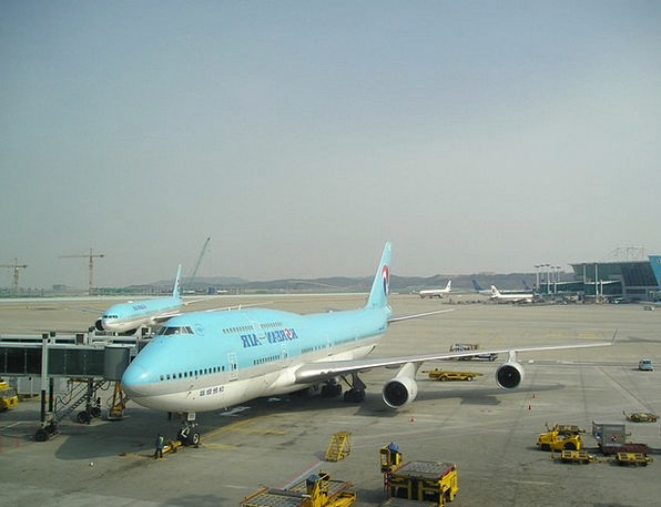 Aircraft Airplane Boing Korea 747
