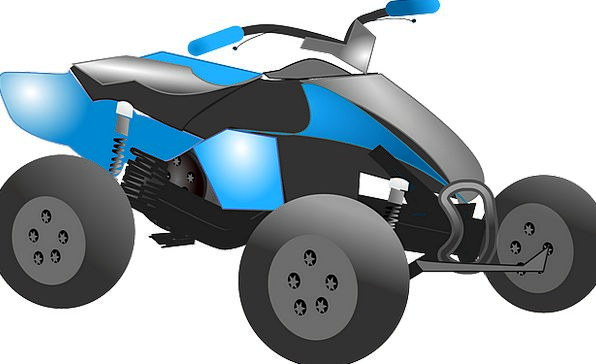 Atv Traffic Land Transportation Quad Courtyard Ter