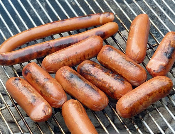 Sausage Grate Campfire Grill Grill Sausage
