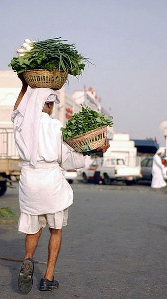 Bahrain Potatoes Man Gentleman Vegetables Clouds C