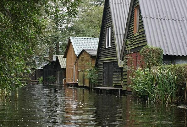Müritz Ponds Boat House Lakes