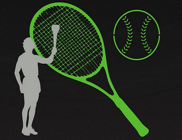 Tennis-Player Tennis-Ball Olympic-Torch Grasping T