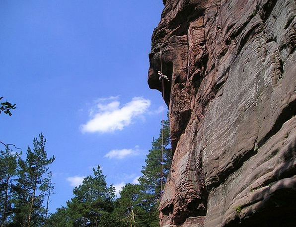 Palatinate Climb Hike Germany Rock Pillar Sand Sto