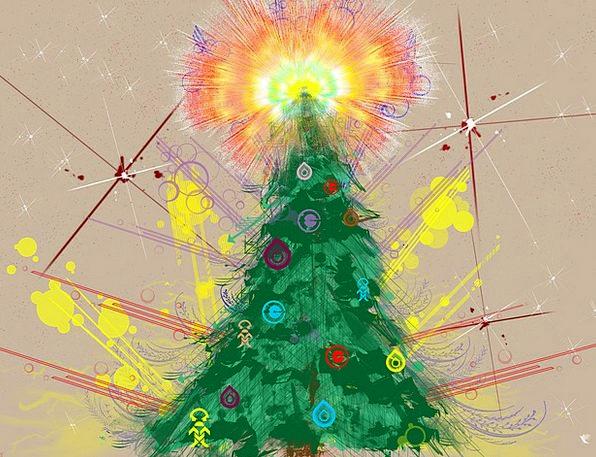 New Year Sapling Christmas Tree Holiday Break Wint