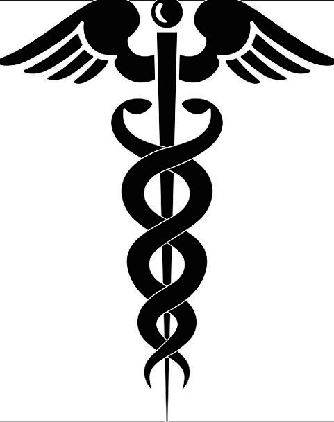 Aesulapian Staff Snakes Serpents Rod Of Asclepius