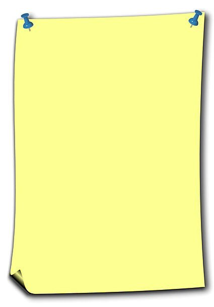 Stickies Letter Yellow Creamy Note Pin Jot Bulleti