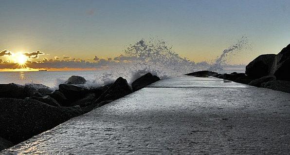 Ostia Landscapes Marine Nature Rocks Pillars Sea C