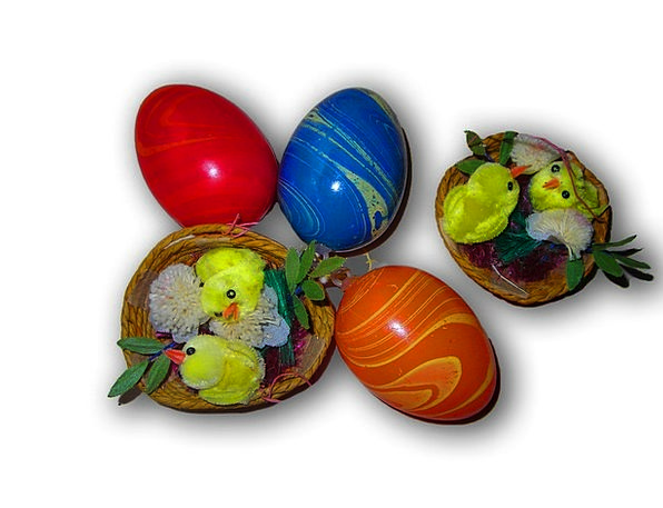 Easter Eggs Interesting Chicks Chickens Colorful E