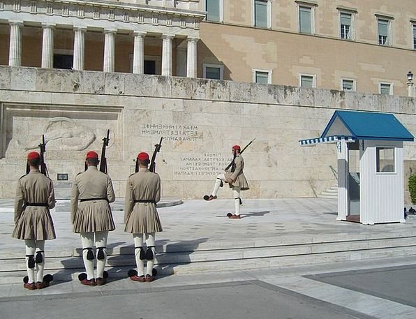 Guard Protector Greece Changing Of The Guard Athen