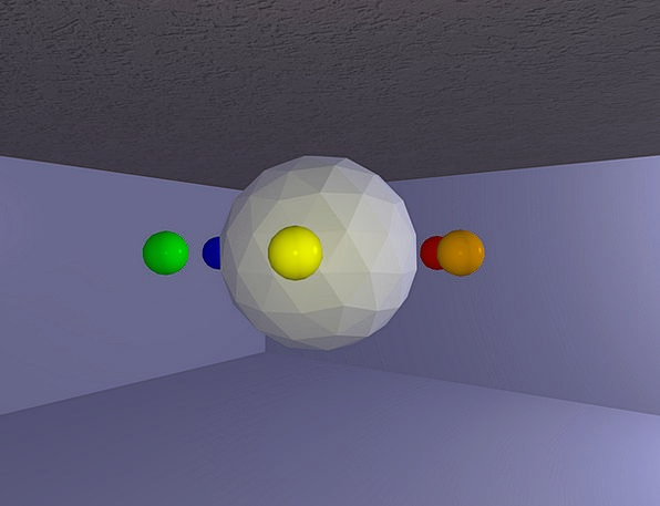 Solids Objects Balls Polyhedra Colors Insignia Ren