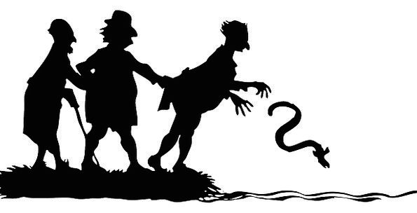 Snake Serpent Public Silhouette Outline People Pan